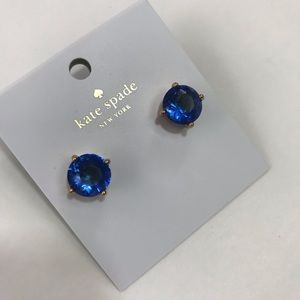 New! Kate Spade sapphire blue earrings